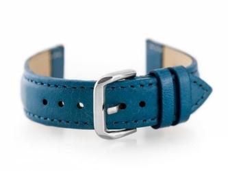 Pasek skórzany do zegarka w30 - w pudełku - niebieski - 16mm