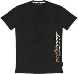 Koszulka automobili lamborghini script czarna - czarny