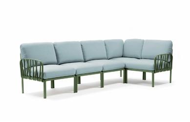 Sofa komodo5 zielona jasna niebieska - niebieski jasny
