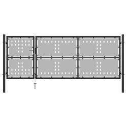 Vidaxl brama ogrodzeniowa, stalowa, 350 x 125 cm, czarna