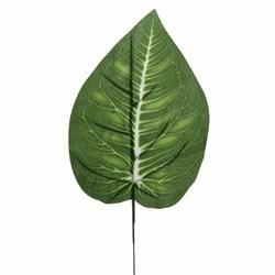 Zielony liść na piku do florystyki 36 cm