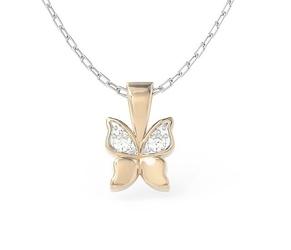 Wisiorek w kształcie motyla z różowego złota z cyrkoniami bpw-88p-r-c - różowe z rodowaniem