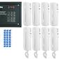 Laskomex system domofonu 10 lokatorów, 1 wejście, czytnik rfid. - szybka dostawa lub możliwość odbioru w 39 miastach