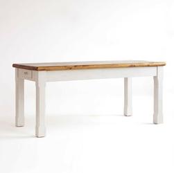 Postarzany stół z szufladami bergel