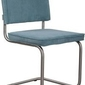 Zuiver :: krzesło ridge brushed rib niebieskie 12a