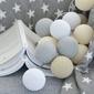 Girlanda świetlna cotton ball beige 20