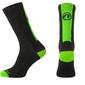 Skarpetki kolarskie accent stripe long czarno-zielone neonowy xl 45-46