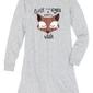 Koszula nocna, bawełna organiczna bonprix jasnoszary melanż z nadrukiem