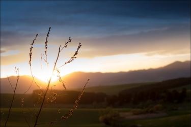 Zachód słońca - plakat wymiar do wyboru: 100x70 cm