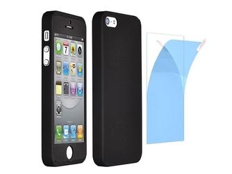 Etui 360º full protection iphone 66s + szkło hartowane - czarny