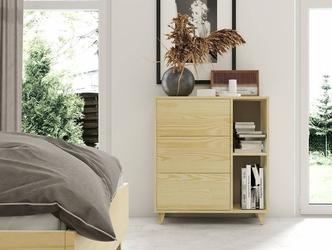 Komoda drewniana sosnowa visby viveca 3s z trzema szufladami  kolor sosna naturalna