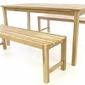 Stół i ławki z drewna teakowego, tekowe drewno