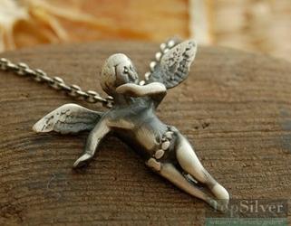 Angel - srebrny wisiorek