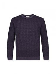 Sweter z fakturą fioletowy s