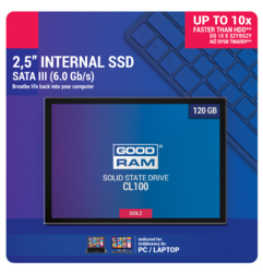 DYSK SSD GOODRAM CL100 G2 120GB SATA3 - Szybka dostawa lub możliwość odbioru w 39 miastach
