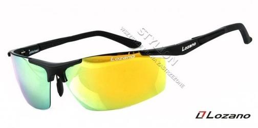 Męskie okulary lozano lz-304b polaryzacyjne lustrzane