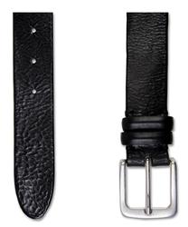 Czarny elegancki pasek profuomo w nieformalnym stylu 90