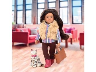 Maria i moka lalka z kotkiem brunetka 15 cm