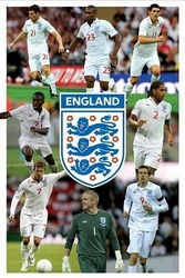 England F.A 8 Player Montage - plakat