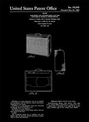 Fender guitar amplifier wzmacniacz gitarowy projekt 1959 - retro plakat