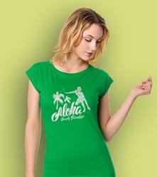 Aloha t-shirt damski zielony xxl