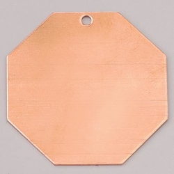 Metalowa zawieszka Efcolor - ośmiobok 40 mm - OS40