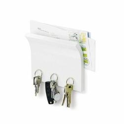 Wieszak na klucze i półka na listy Magnetter biały