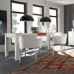 Amaretto biały lakierowany włoski stół 180x90cm