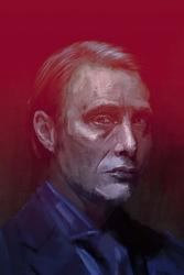 Mads Mikkelsen - plakat premium Wymiar do wyboru: 29,7x42 cm