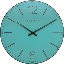 Zegar ścienny Index Dome Nextime 35 cm, turkusowy 3159 TQ