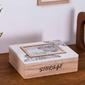 Pudełko  szkatułka do przechowywania, na biżuterię, drobiazgi drewniana z ramką do zdjęć 10 x 15 altom design mandala 22 x 17 x 7 cm