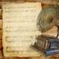 Naklejka samoprzylepna rocznika muzyczne tło