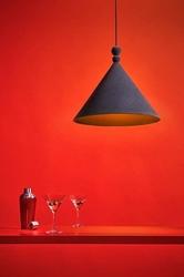 Loftlight :: lampa wisząca konko velvet szara szer. 45 cm