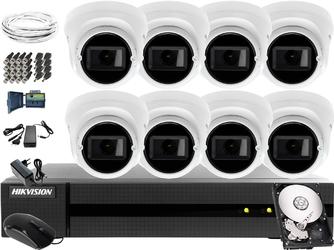 8 x hwt-t323-z zestaw do monitoringu hikvision hiwatch hwd-6108mh-g2, 1tb, akcesoria