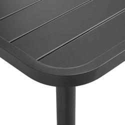 Stół ogrodowy alameda 150 cm metalowy ciemnoszary