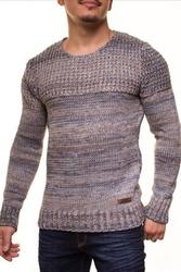 Ciepły męski sweter crsm - niebiesko-szary 9502-3