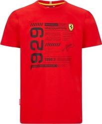 Koszulka scuderia ferrari f1 detail czerwona - czerwony