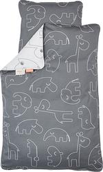 Pościel dla dziecka Contour 100 x 70 cm szara