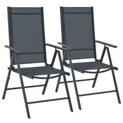 Zestaw ogrodowy stół + 2 krzesła adere czarny