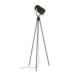 Metalowa lampa podłogowa briand 58x58 cm czarna