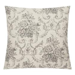 Szara poduszka dekoracyjna hampton french 45x45