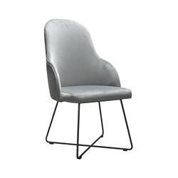 Nowoczesne krzesło tapicerowane leona x na metalowych nogach