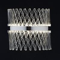 Kinkiet ze szklanych rurek, chromowana podstawa adelard mw-light crystal 642023801