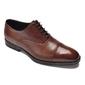 Eleganckie brązowe skórzane buty męskie typu oxford 46