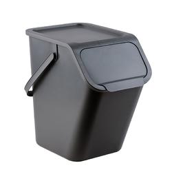 Kosz na śmieci do segregacji practic bini 25 l szary
