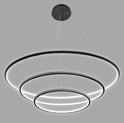 Altavola Design :: Lampa wisząca Ledowe Okręgi No.3 czarna in 3k