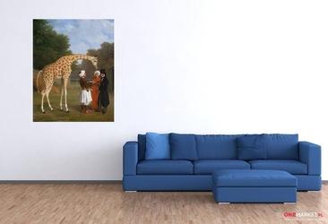 żyrafa nubijska -  jacques-laurent agasse ; obraz - reprodukcja