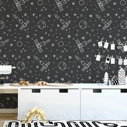 Tapeta dziecięca - space design , rodzaj - próbka tapety 50x50cm