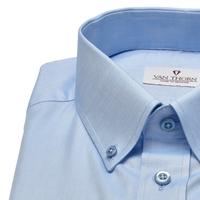 Niebieska koszula van thorn z kołnierzykiem na guziki 46