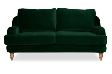 Sofa mirar 3-osobowa welurowa welur bawełna 100 ciemnozielony